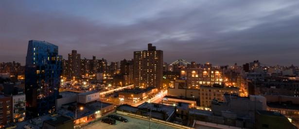 Digital Panoramic Nightime lights Lower East Side, New York