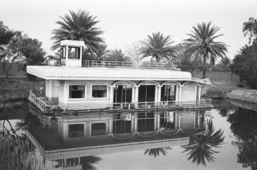 sunken houseboat, Iraq